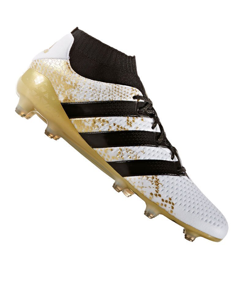the latest 64fea 4840c adidas ACE 16.1 Primeknit FG Weiss Gold - weiss