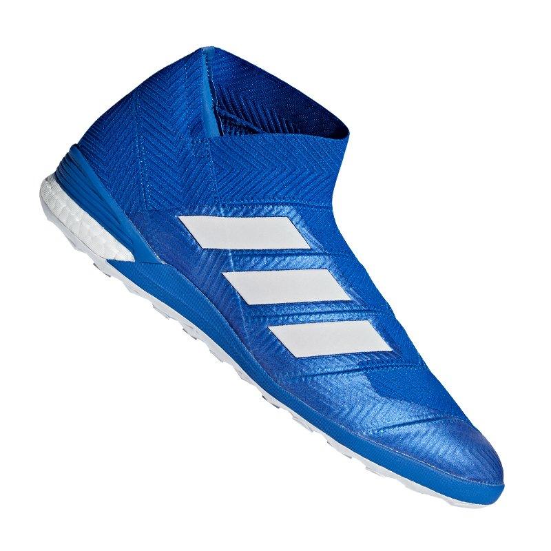 ad3badd6adc1 adidas NEMEZIZ Tango 18+ IN Halle Weiss Blau - blau