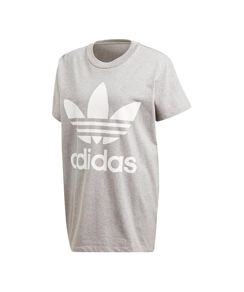 adidas Originals Big Trefoil T-Shirt Damen Grau - grau a26c3e8d36