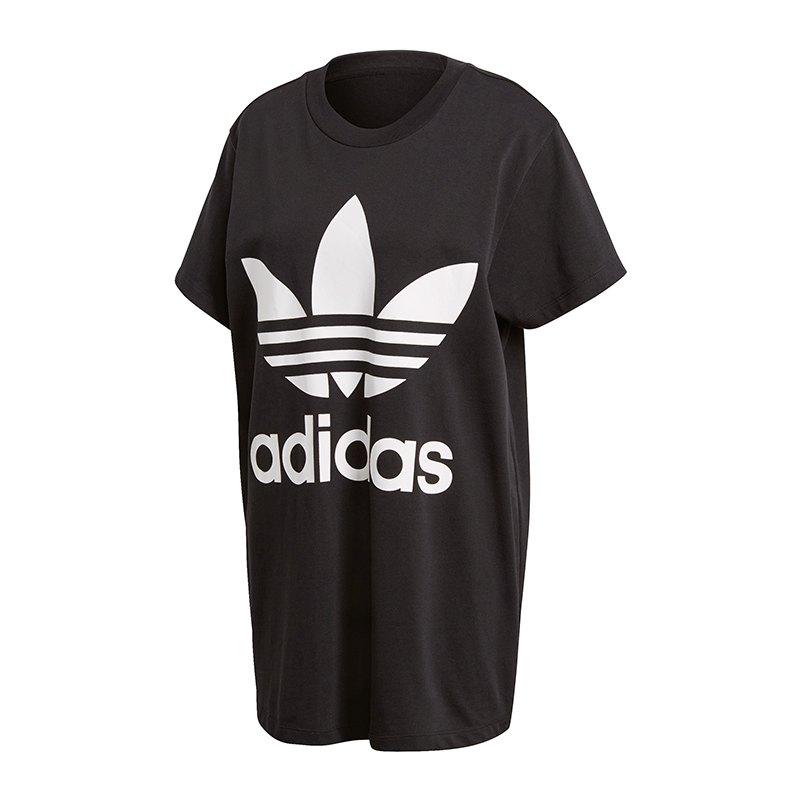 adidas Originals Big Trefoil T-Shirt Damen Schwarz - schwarz bd8608df24