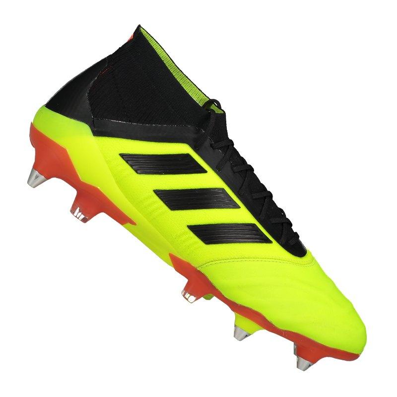 lowest price 9f37e c800e adidas Predator 18.1 SG Leder Gelb Rot - gelb