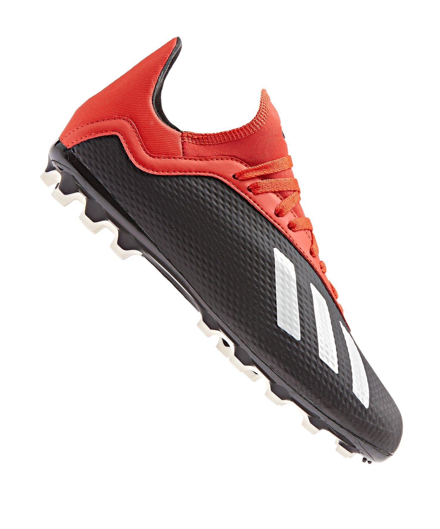 adidas X 18.3 AG J Kids Schwarz Rot