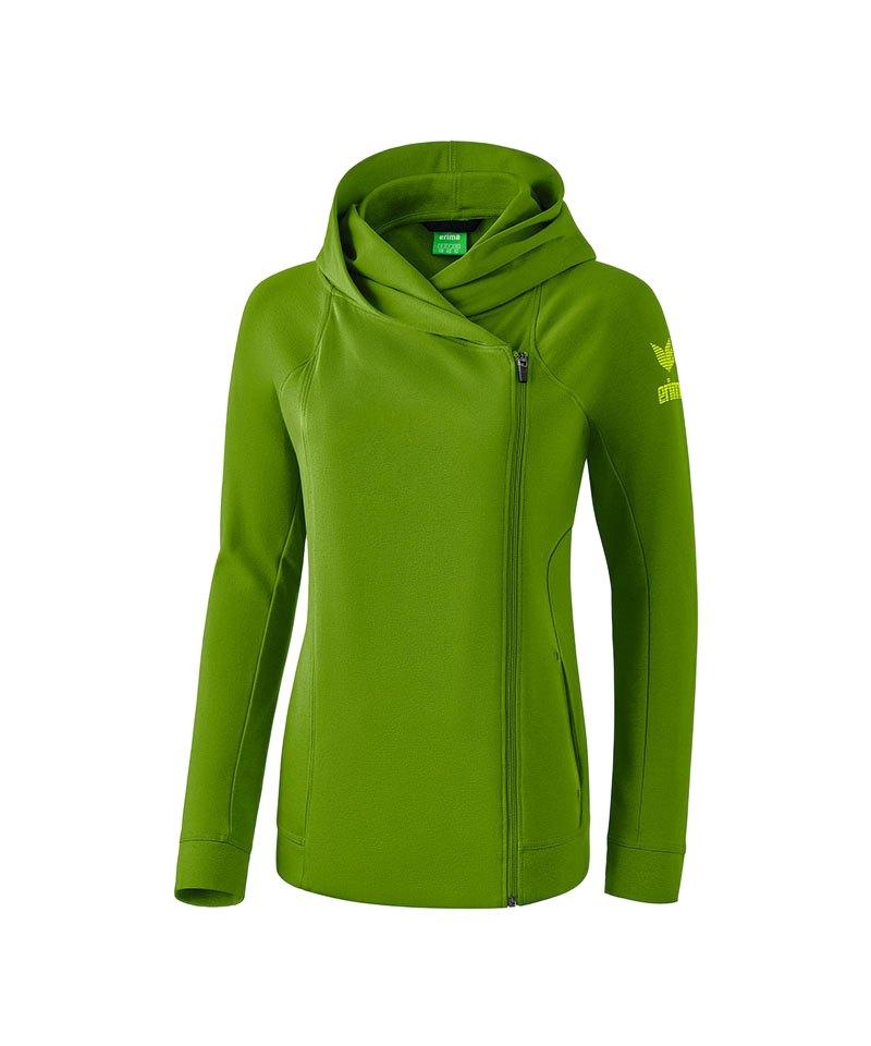 Erima Essential Kapuzensweatjacke Damen Grün - gruen 10663b5bf1