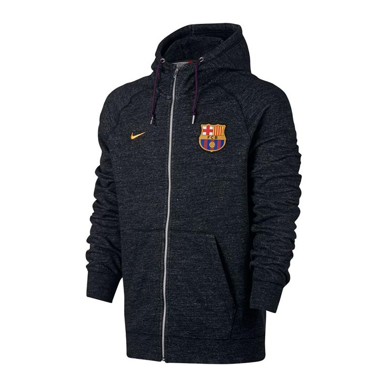 Nike FC Barcelona Hoody Kapuzenjacke Schwarz F032