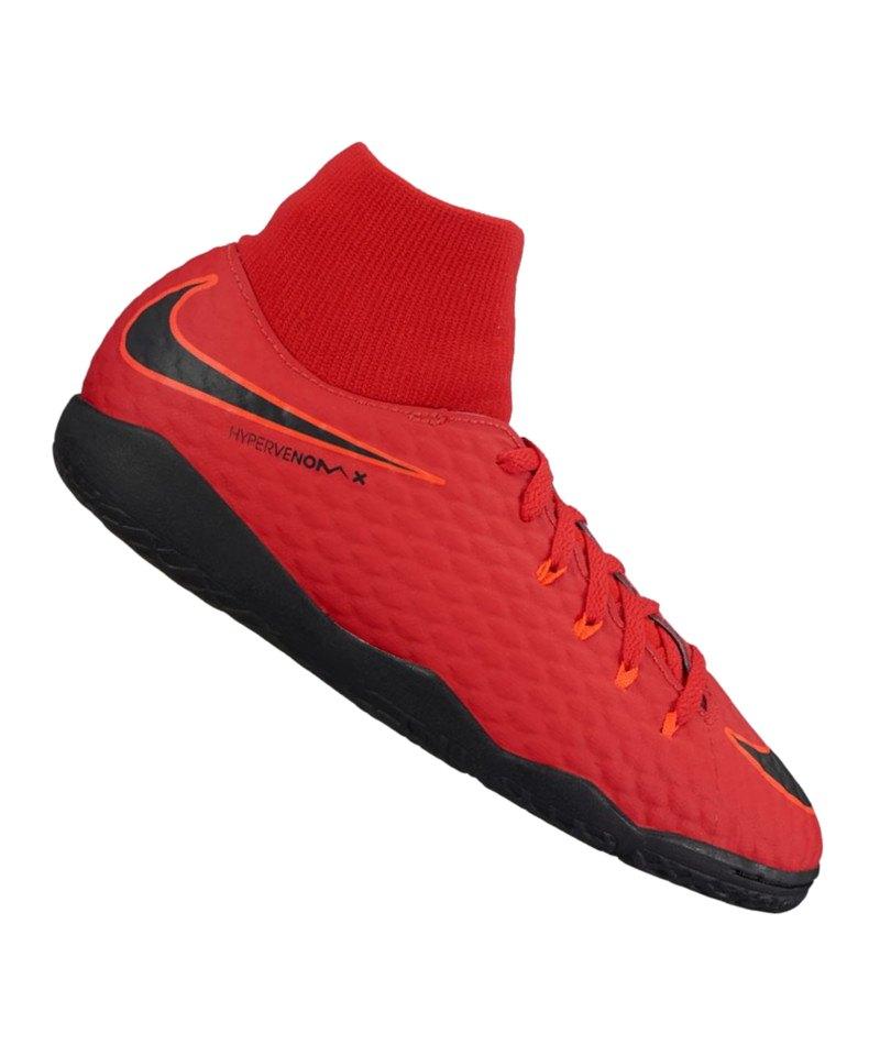 more photos 8cc97 7a3bf Nike Jr Hypervenom Phelon III DF IC Kids Rot F616 - rot