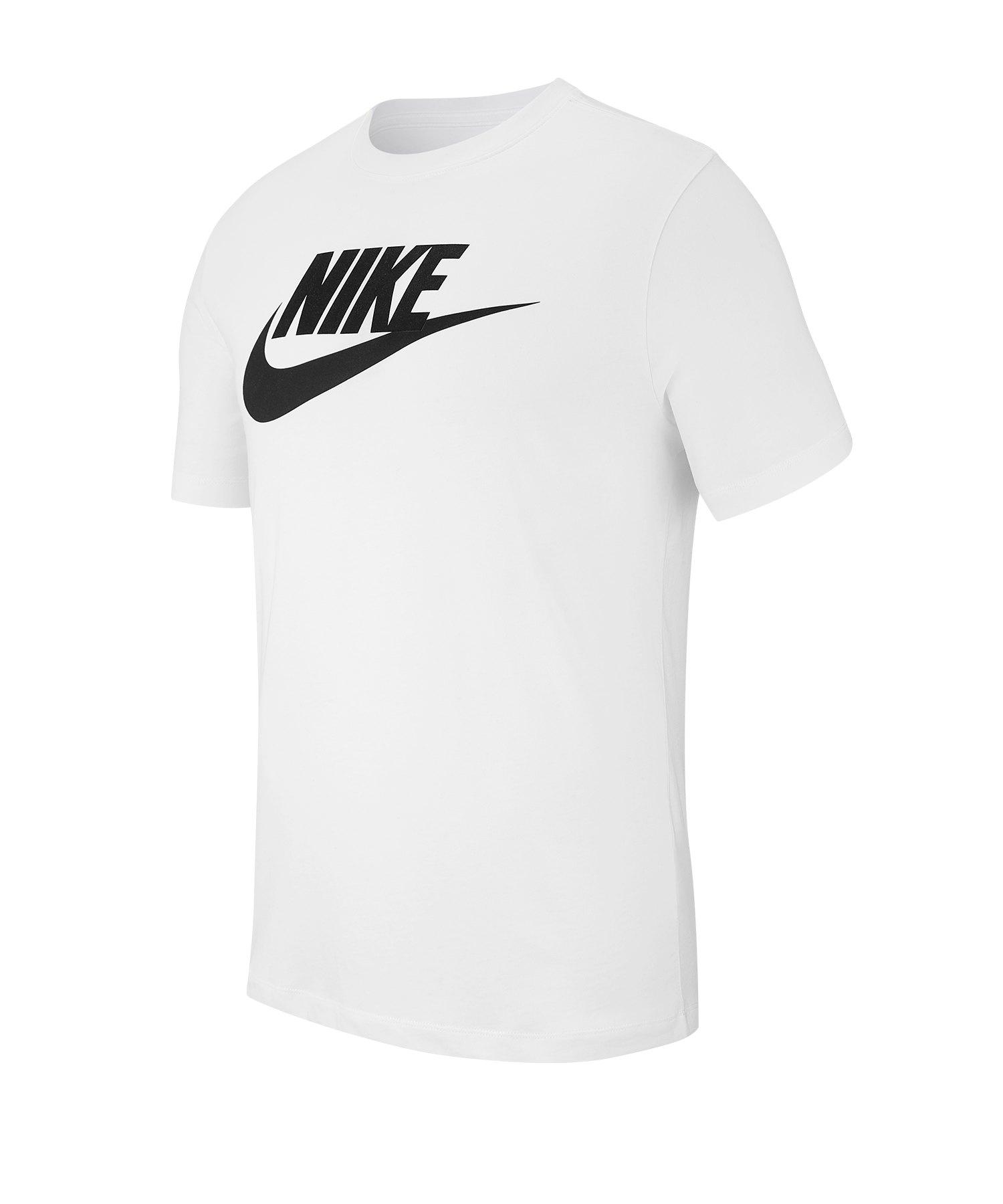 Nike Tee T-Shirt Weiss Schwarz F101 weiss