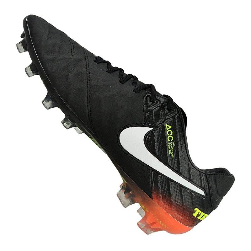 promo code 80a70 ded26 ... Nike Tiempo Legend VI FG Schwarz Orange F018 - Schwarz ...