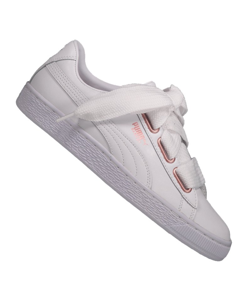 Sneaker Puma F01 Damen Leather Heart Weiss Basket HZwZaqU