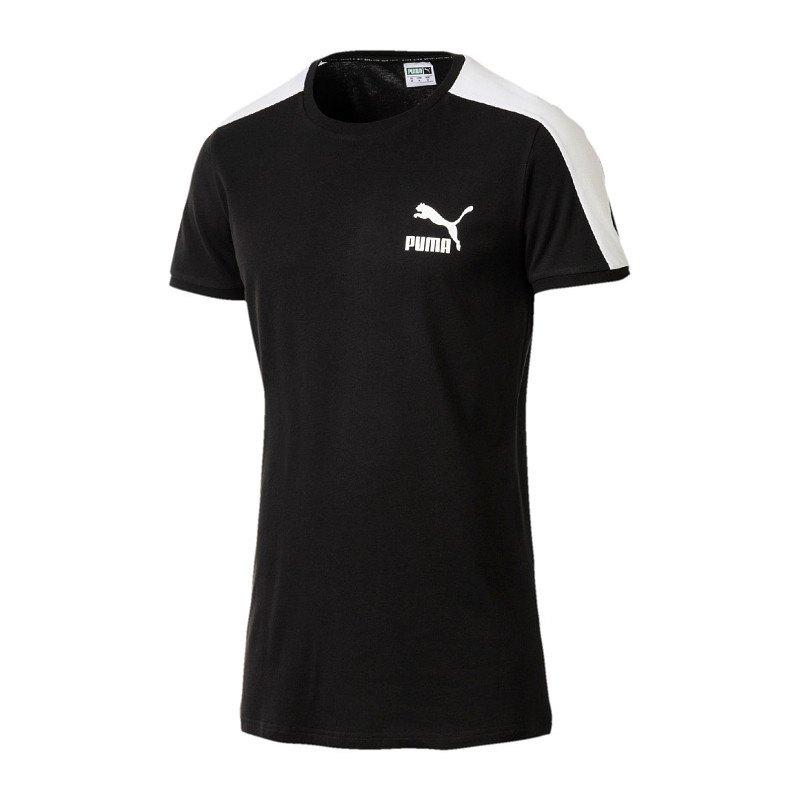 PUMA CLASSICS T7 Tee Slim T Shirt Grün F23 EUR 24,95