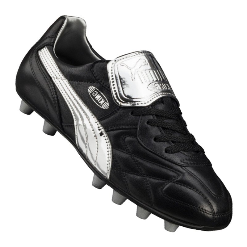 KING TOP M.I.I CHROME FG - Fußballschuh Nocken - puma white/silver 7pJ5iNTm