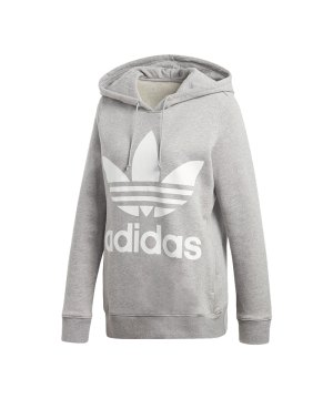 adidas-originals-trefoil-hoody-damen-grau-kapuzenpullover-pulli- 2b0a75c035