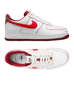 Nike Air Force 1 bianco rosso F101