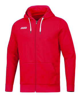JAKO Base giacca c/capp. rosso F01