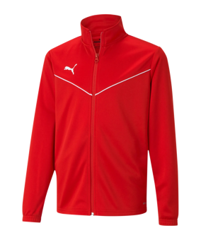 PUMA teamRISE Poly giacca all. Kids rosso F01