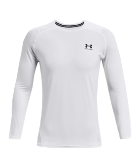 Under Armour HG Fitted Sweatshirt bianco F100