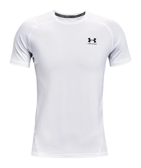 Under Armour HG Fitted T-Shirt bianco F100