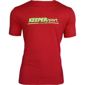 KEEPERsport Basic T-Shirt rosso F116