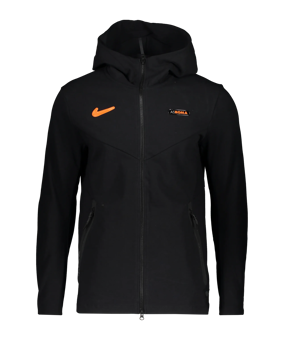 Nike AS Roma Tech Pack giacca c/capp. CL nero F010