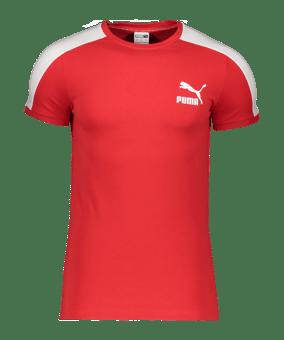 PUMA Iconic T7 T-Shirt rosso F11