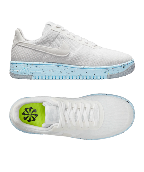 Nike Air Force 1 Crater flyknit donna bianco F100