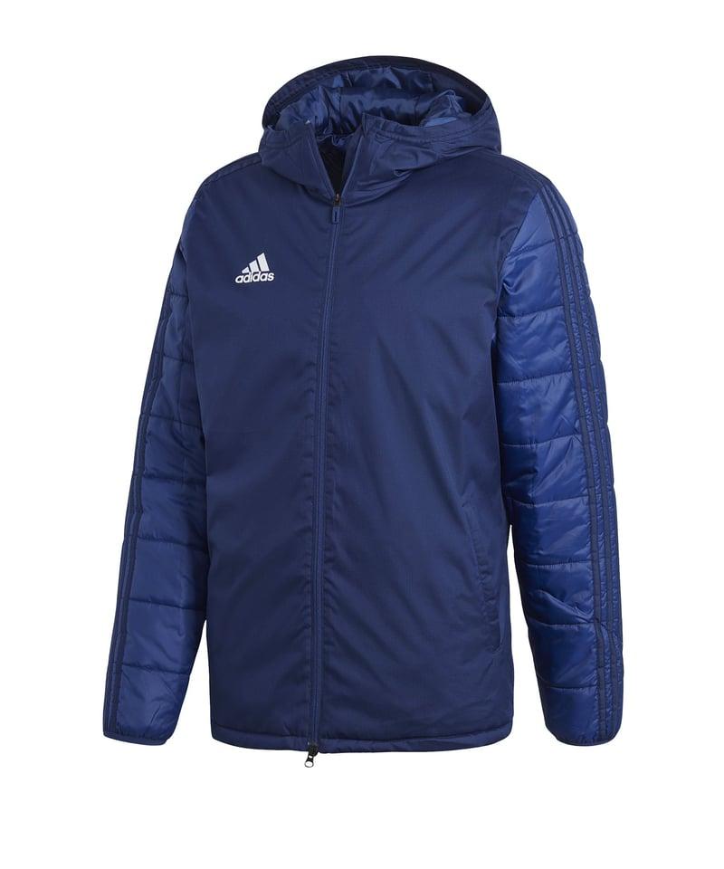 Adecuado Grafico Circunferencia  adidas Jacket 18 Winterjacke Blau Weiss | Fußballtextilien | Teamsport