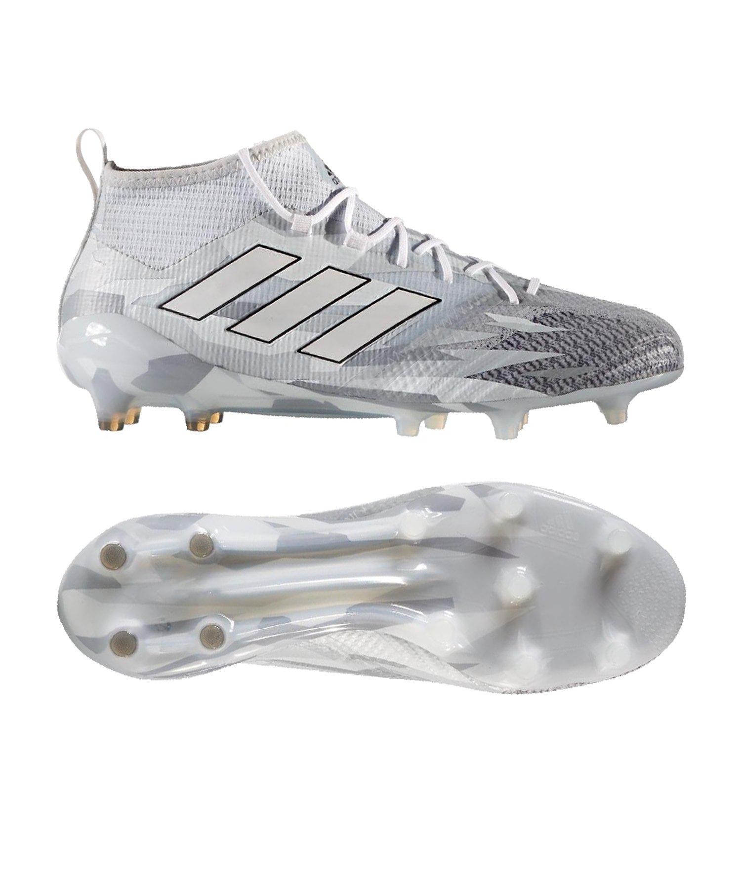Adidas Ace 17.1 Primeknit FG Grau Weiss   Trends Sport