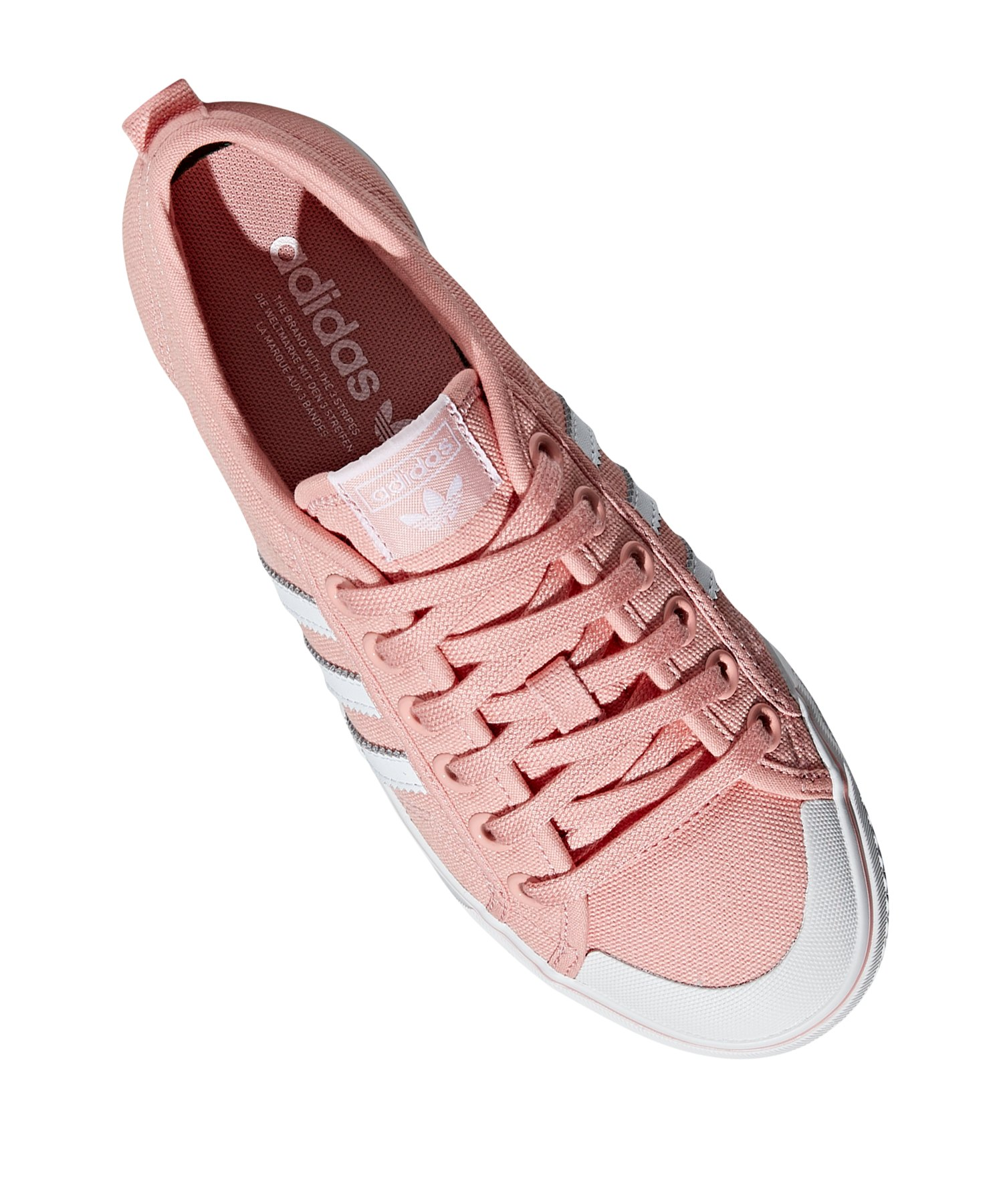 adidas Originals Nizza Sneaker Damen Rosa Weiss
