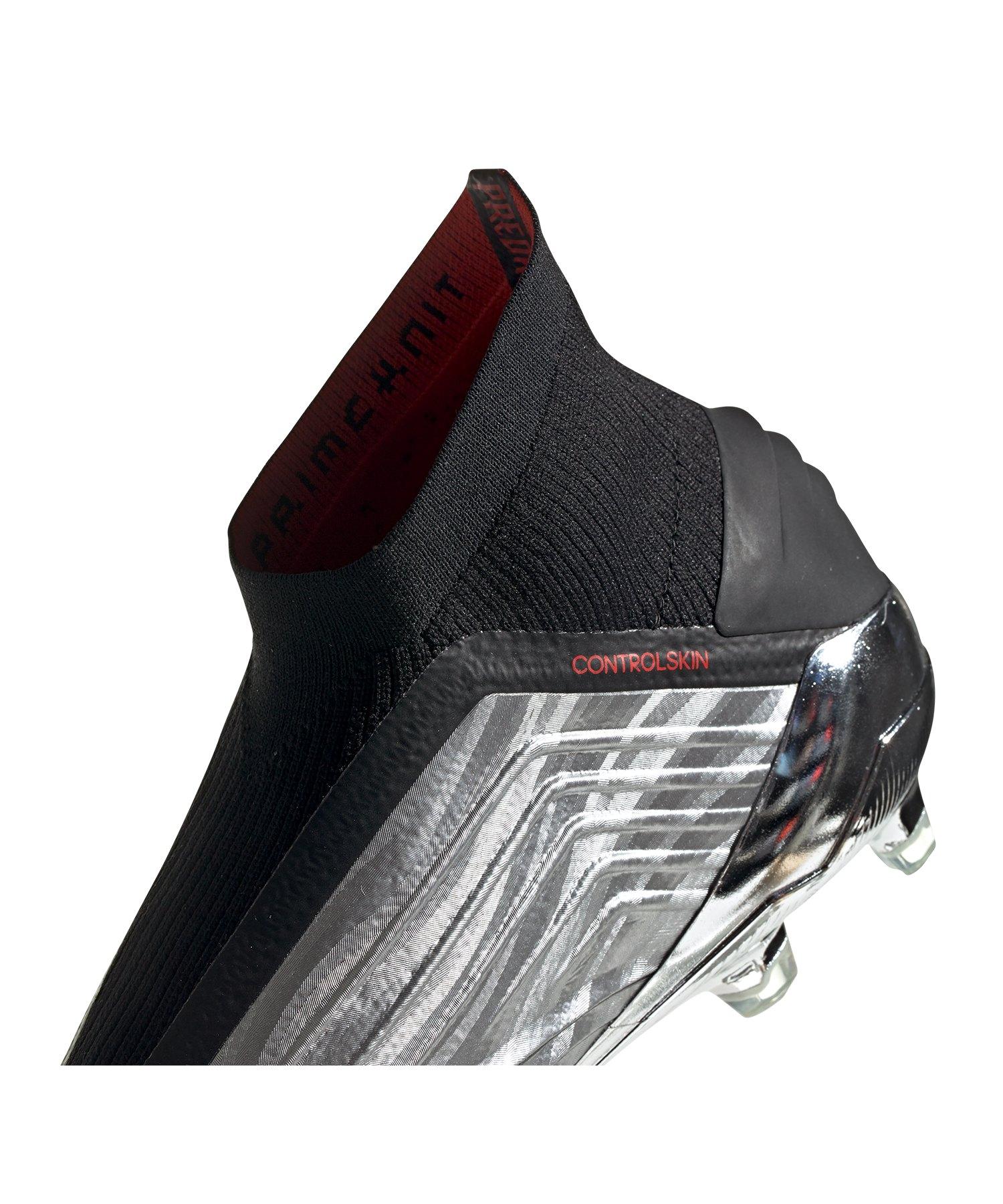 oben adidas Predator 19+ FG Silber Schwarz Rot adidas