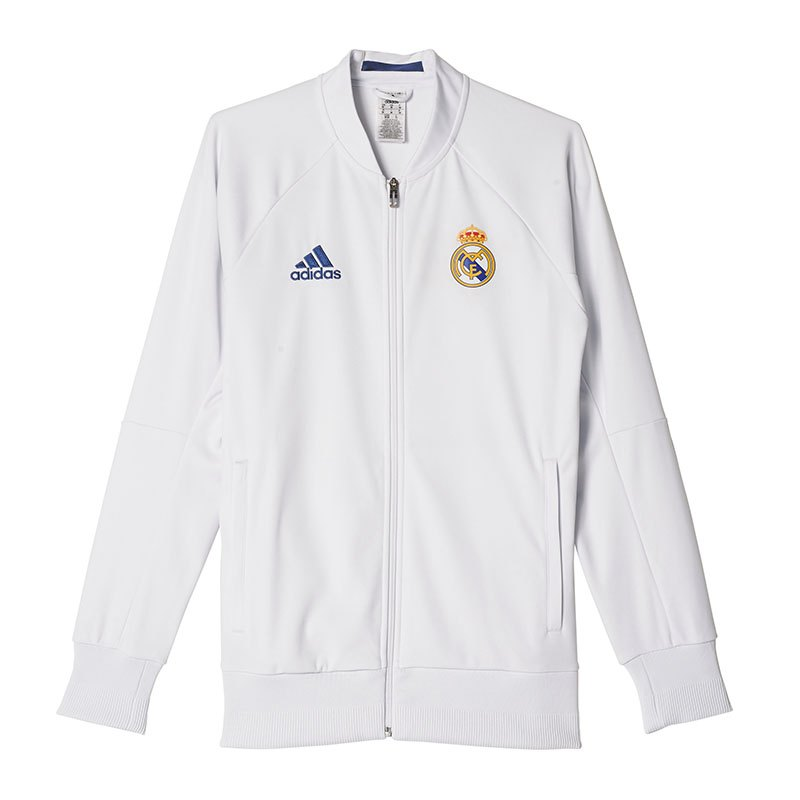 38e0f4db5 2014 15 Real Madrid Adidas Anthem Walk Out Away Jacket Bnib M For Sale. Adidas  Real Madrid Anthem Jacket Home Weiss Weiss