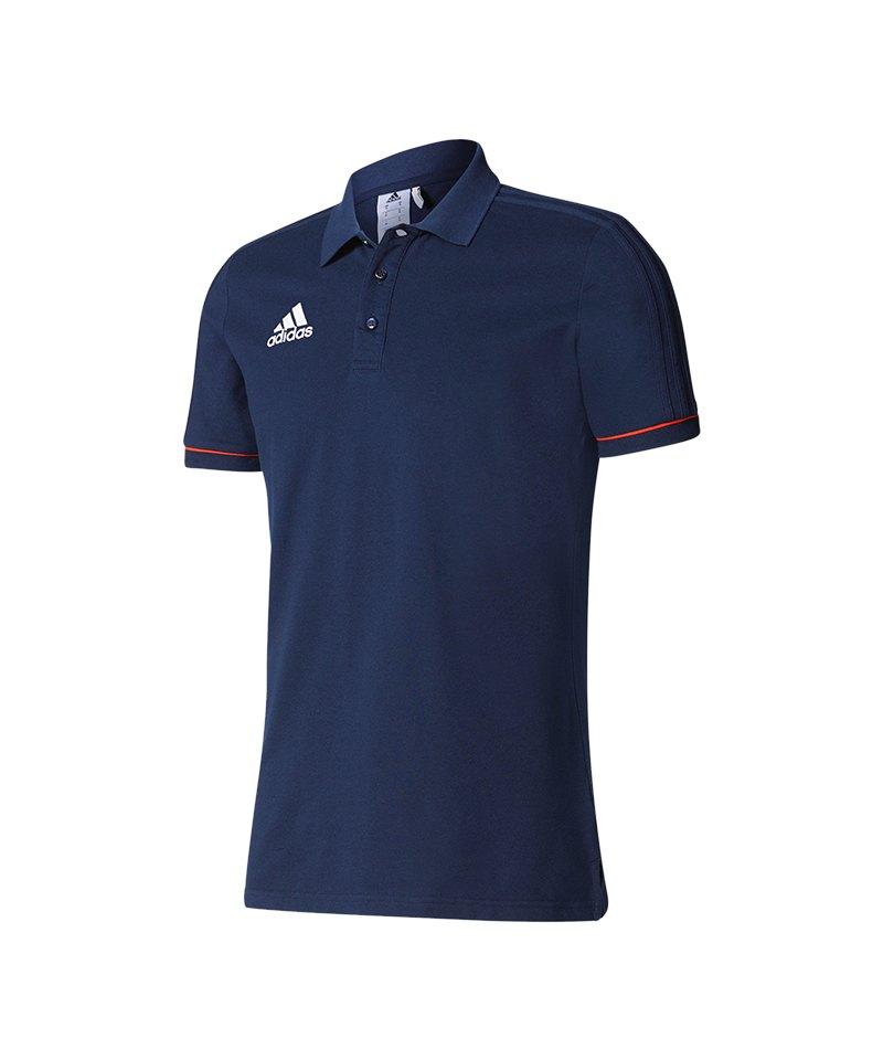 da9cdaafcb49 adidas Tiro 17 Poloshirt Dunkelblau Rot blau