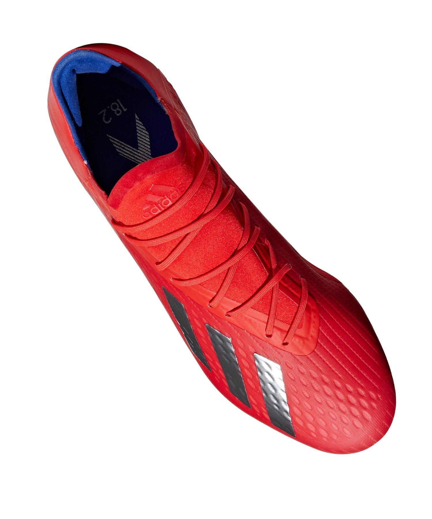 adidas X 18.2 FG Rot Blau