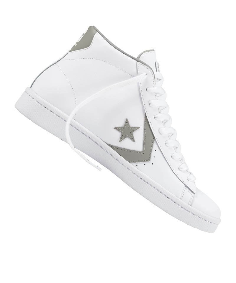 competitive price c7ed0 fdfb8 Converse Pro Leather Mid Sneaker Weiss Grau F119