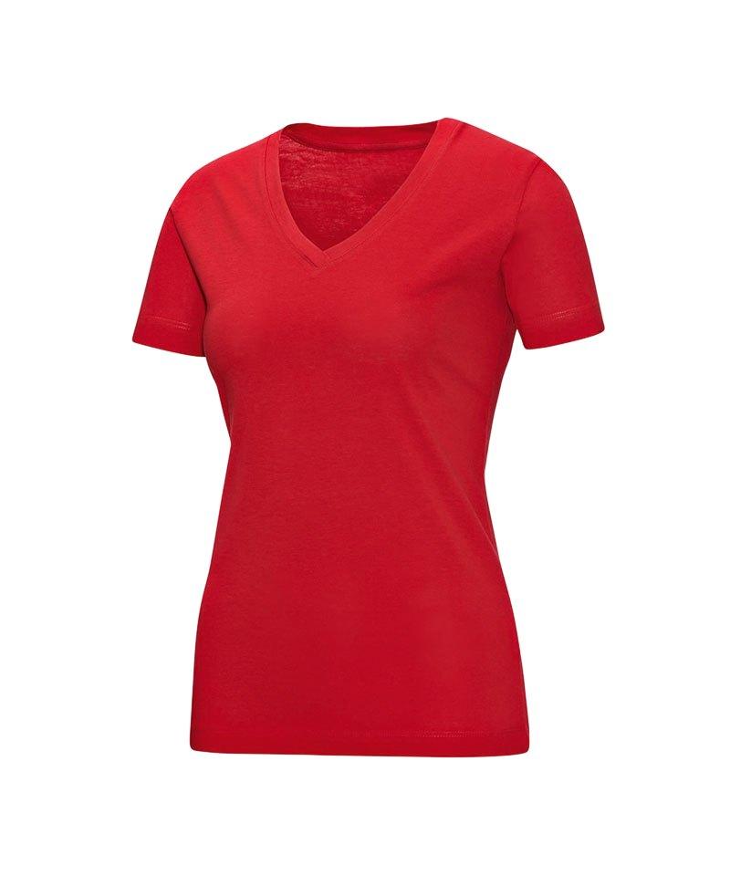 07a80f3a07ac6c Jako V-Neck T-Shirt Damen Rot F01 - rot