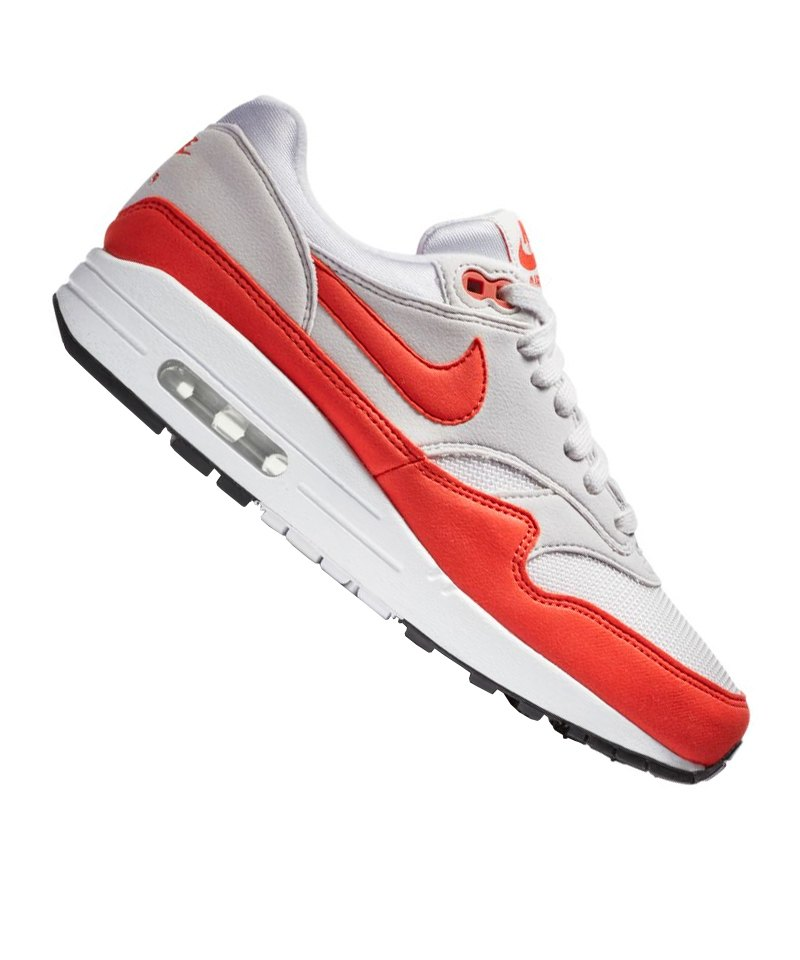 nike air max 1 sneaker damen grau rot f035 grau. Black Bedroom Furniture Sets. Home Design Ideas