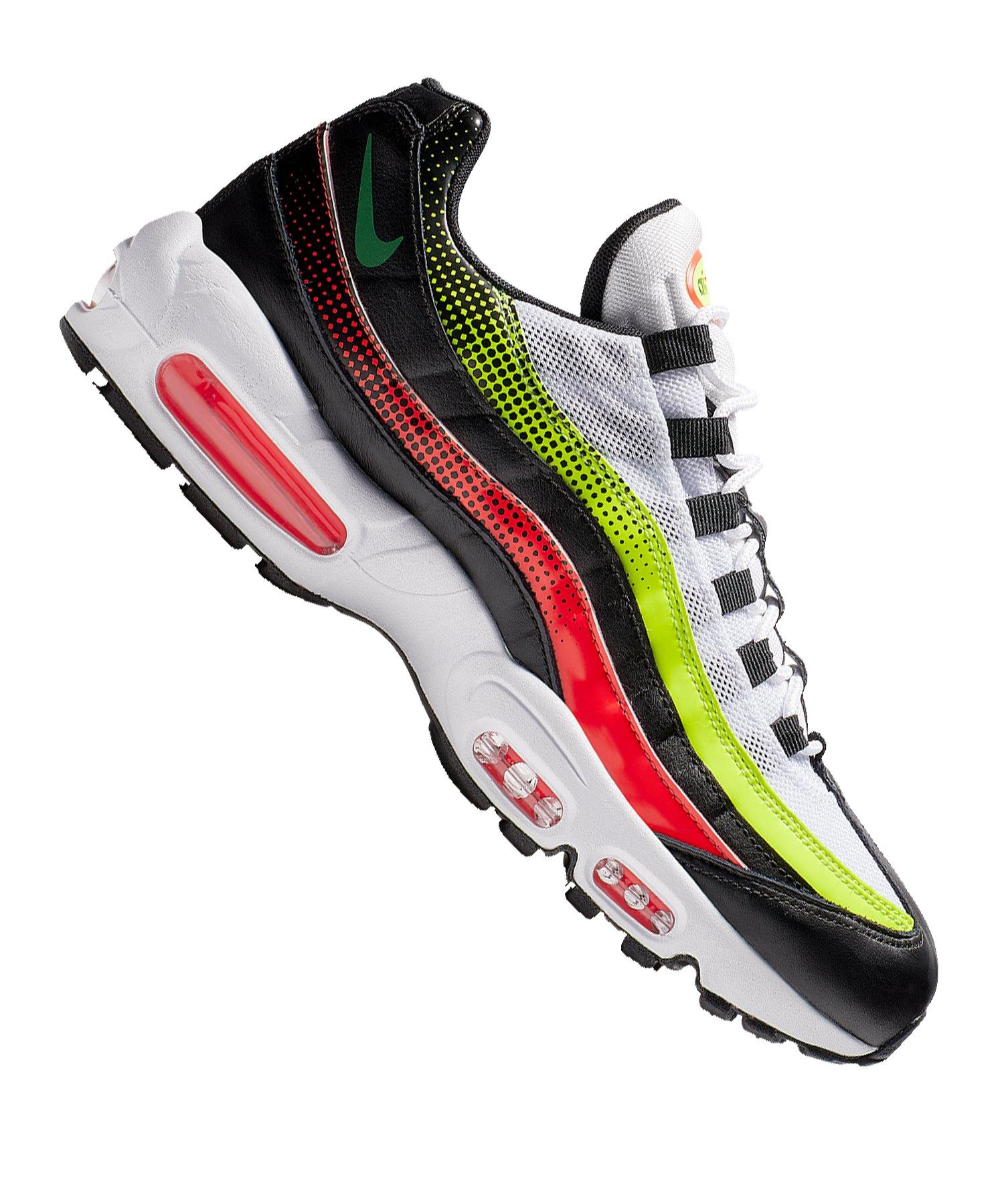 Nike Air Max 95 SE Sneaker Schwarz Rot Weiss F004