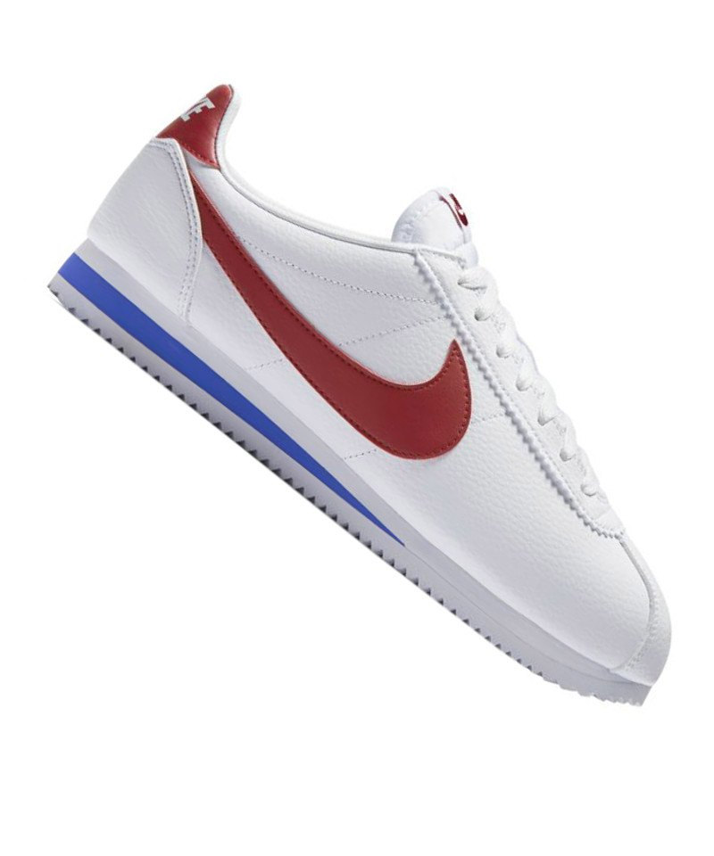 online store 90086 c74f4 Nike Classic Cortez Leather Weiss Rot F154 - weiss