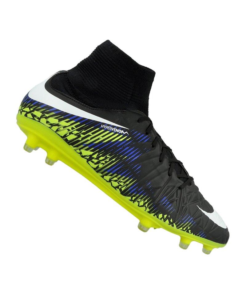 best website b7a7c 3e621 Nike Hypervenom Phatal II DF FG Schwarz Gelb F017 - schwarz
