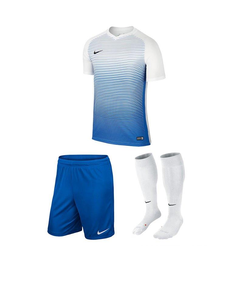 Nike Precision IV Trikotset Weiss Blau F101