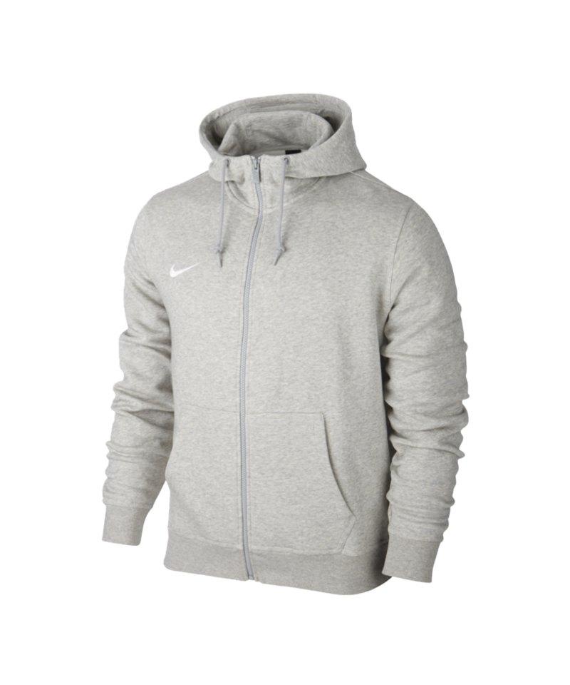 Nike Team Club Fullzip Hoody Jacke Grau F050 grau