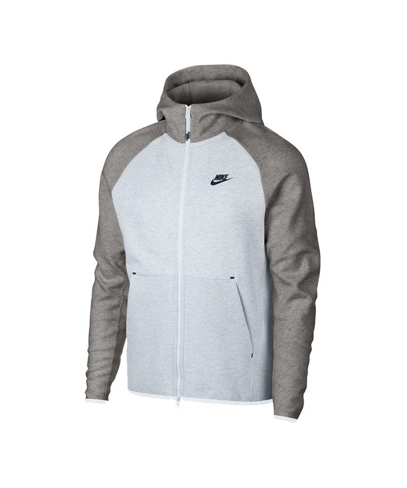 Nike Tech Fleece Kapuzenjacke Weiss Grau F052