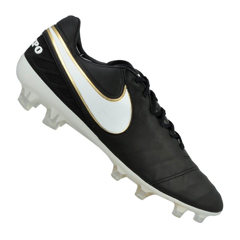 buy online b1e01 7e380 Nike Tiempo Legend VI FG Schwarz Weiss F010 - schwarz