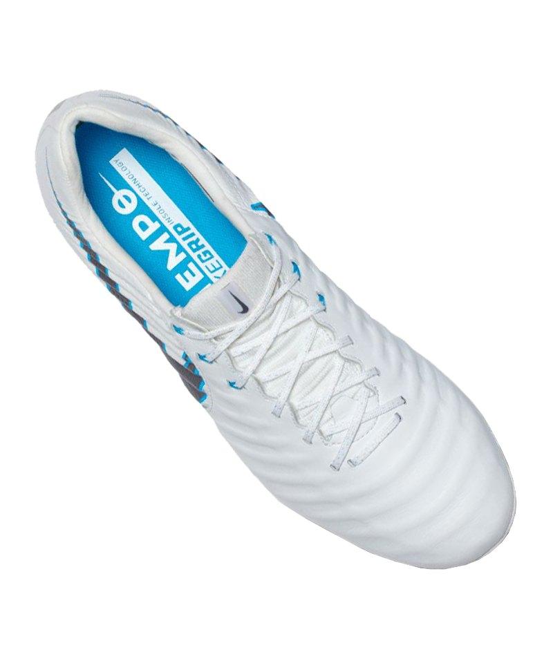 2018 sneakers huge inventory professional sale Nike Tiempo Legend VII Elite FG Weiss Grau F107