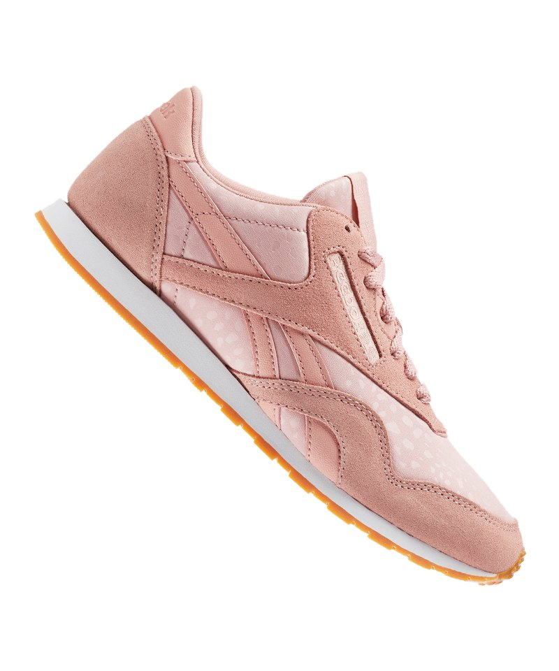 Reebok Classic Nylon Slim Text Sneaker Damen Rosa