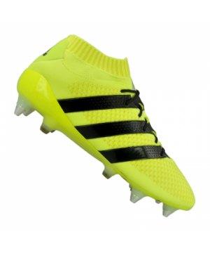 on sale 38da8 ccad1 adidas-ace-16-1-primeknit-sg-gelb-schwarz-