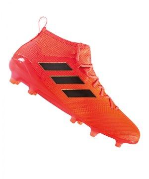 new product a4686 0b0b1 adidas-ace-17-1-primeknit-fg-orange-schwarz-