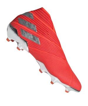 new styles f1593 a5993 adidas-nemeziz-19-fg-rot-silber-fussball-schuhe-