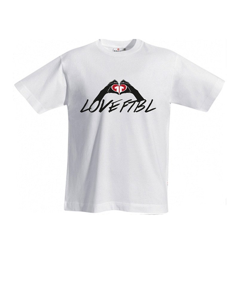 11teamsports T-Shirt LOVE FOOTBALL Weiss - weiss