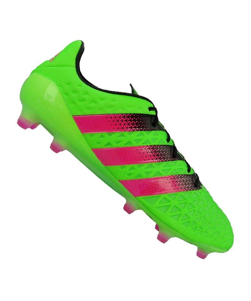 5063192cddd9f0 adidas ACE 16.1 FG Grün Pink - gruen