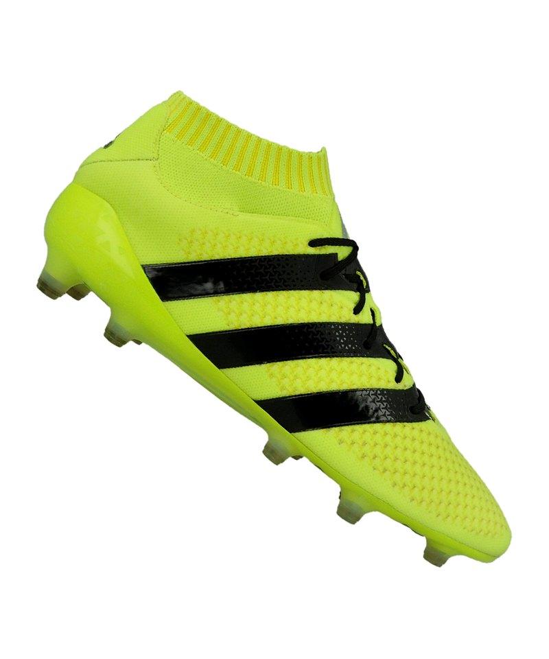 adidas ACE 16.1 Primeknit FG Gelb Schwarz - gelb