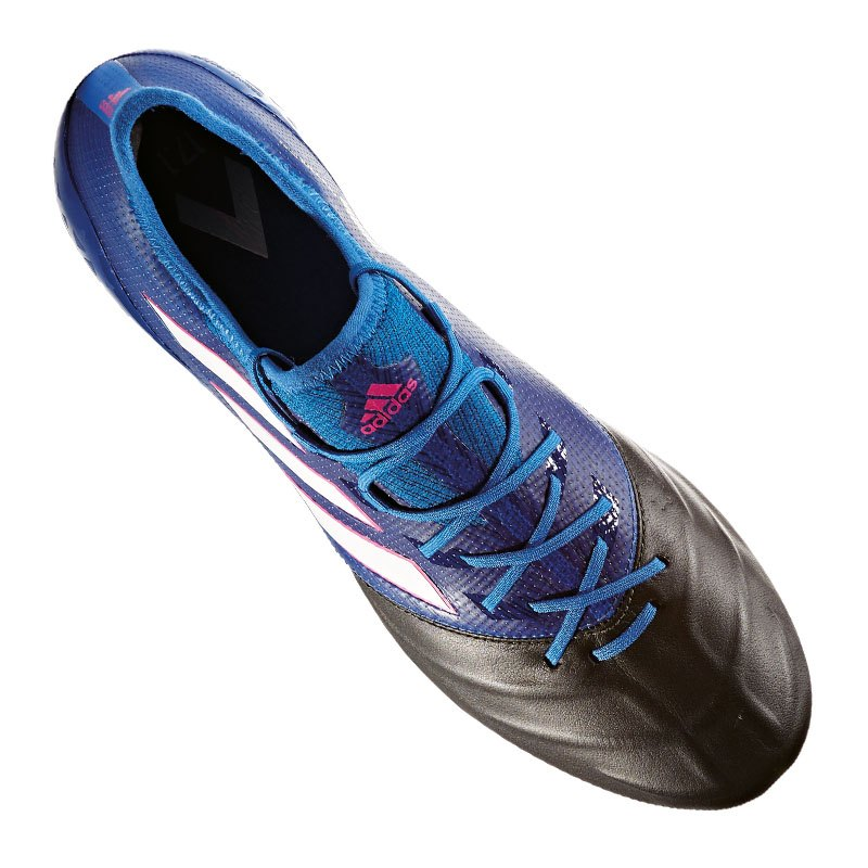 adidas ace 17 1 sg leder blau weiss schwarz fussball. Black Bedroom Furniture Sets. Home Design Ideas